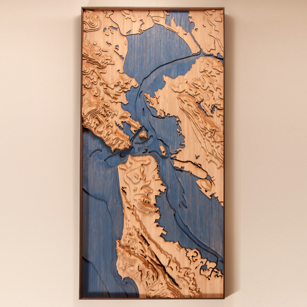 san francisco bay topographic map
